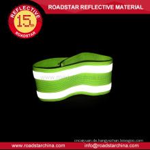 100 % Polyester Material elastische reflektierende Armbinde