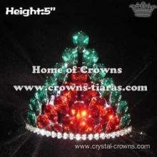 Big Red Green Diamond Christmas Crowns Lighting Up Crowns