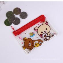 Custom impresso em forma de porta-moedas de couro de animal