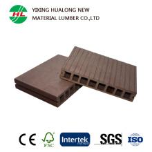 Imperméabilisez le plancher extérieur creux de WPC avec la qualité (HLM18)