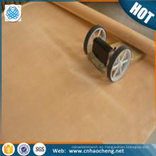 impresión y teñido de malla de filtro de alambre tejido malla de malla de bronce fosforoso
