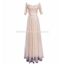 Bridal Scoop Neckline Full Back Lace One Piece Popular Indian Wedding Party Dresses