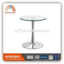 Table de réunion en acier inoxydable ET-23-1 en verre