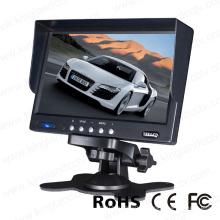 7inch pantalla de visualización trasera de retrovisor de pantalla
