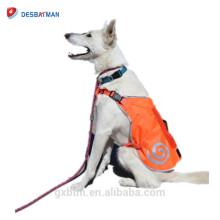 Servicio de caza ligero Chaleco de chaqueta de engranaje de perro reflectante para alta visibilidad Caminata nocturna