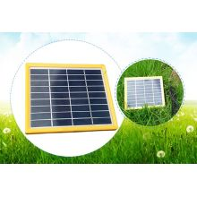 6V 9V 12V 3W Yellow Frame Plastic Solar Panel PV Module for LED Lighting with TUV Approved