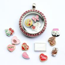 Мода ювелирные изделия Персонализировать Locket Diamond камни ожерелье кулон