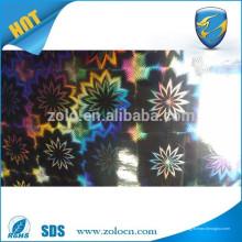 Selbstklebende transparente Hologramm Film / Dekoration Verpackungsfolie / holographischen Film