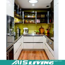 Forme de la galerie avec le meuble d'armoires de cuisine de conception de laque (AIS-K170)