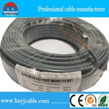 Cable de alimentación plano del aislamiento del PVC del cable plano de 2 * 2.5mm2