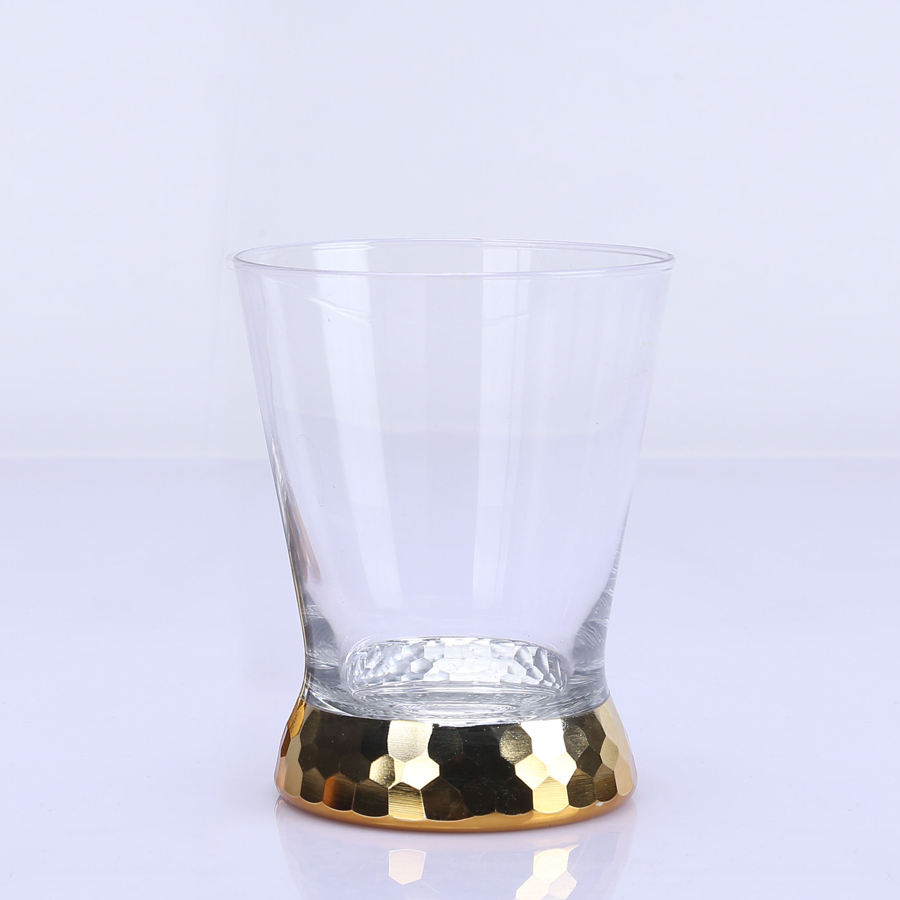Br 9932hand Cut Gold Drinking Glass Tumbler
