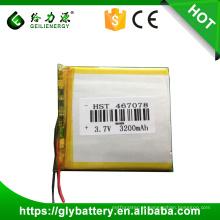 Bateria de 3.7v 3200mAh Firefox 3.7v Atl da bateria do Li-polímero 467078 GPS