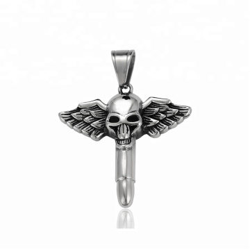 34364 xuping 2018 Newest design fashion Stainless Steel jewelry  skull head cross pendant