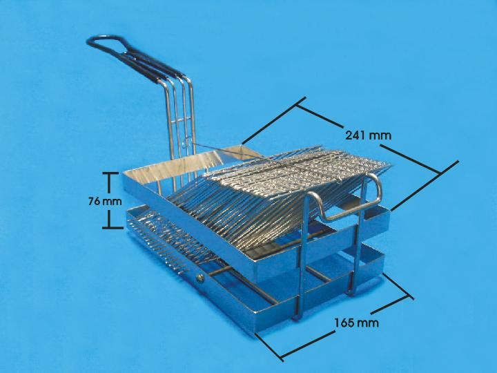 Stainless steel frying basket for electric fryer