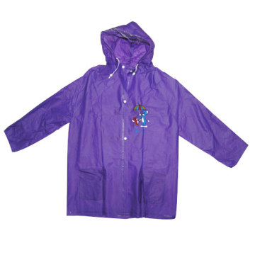 Purple Kinder Pvc Rainwear