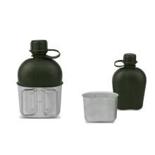 Plastic Bottle with a Aluminium Mess Tin