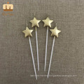 China Gold Star Shaped Birthday Candles Manufacturer