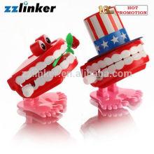 LK-S13 Dental Crafts Wind Up Toy Jumping Dentes com Rose