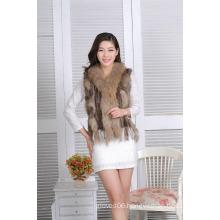 Women Short Fur Vest Spring Lady Sleeveless Coat Jacket