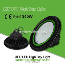 Spain hot selling 240W UFO LED high bay SNC factory with dimmable sensor