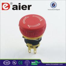 Daier A16-20SR-F DPST botón de seta de emergencia a prueba de agua; Interruptor de emergencia; Pulsador de parada de emergencia
