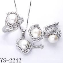 Venda directa de fábrica Prata Jóias Pearl Set prata 925 (YS-2242)