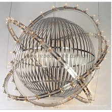 Hotel Project Sphere Hanging Satinless Steel Pendant Lamp