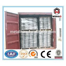 Anping barbed tape wire factory/Gal barbed wire from anping weihao