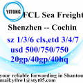Shenzhen International Ocean Freight Shipping à Cochin
