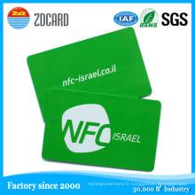 Cartes à puce RFID sans contact Carte de visite NFC