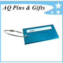 Capa de cartão de nome com anel de metal