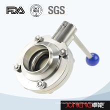 Нержавеющая сталь Гигиеничный ручной сварной клапан-бабочка (JN-BV1001)