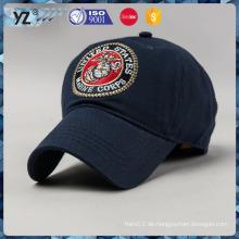 100% Baumwoll-Twill-Stickerei-Abzeichen einzigartige Baseballmütze