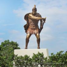 estátua de bronze de alta qualidade guerreiro espartano