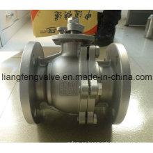 Extremo de brida de la válvula de bola con acero inoxidable RF 2PC