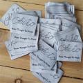 Falten Sie das hellrosa gewebte Polyester-Etikettentuch