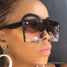 Vintage Oversized Square One Piece Lens Women Sunglasses Hot Selling 2021