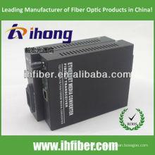 10/100 / 1000M Convertisseur de fibre optique Convertisseur monomode double fibre Port ST 20 km