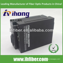 10/100 / 1000M Fibra Óptica Media Converter singlemode dupla fibra ST porto 20 km