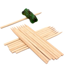 """Royal 7"""" Natural Color Satay And Vegetables Bamboo Sticks Flat Wooden Skewers For Grilling"""