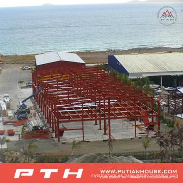 Edificio de estructura de acero como almacén prefabricado