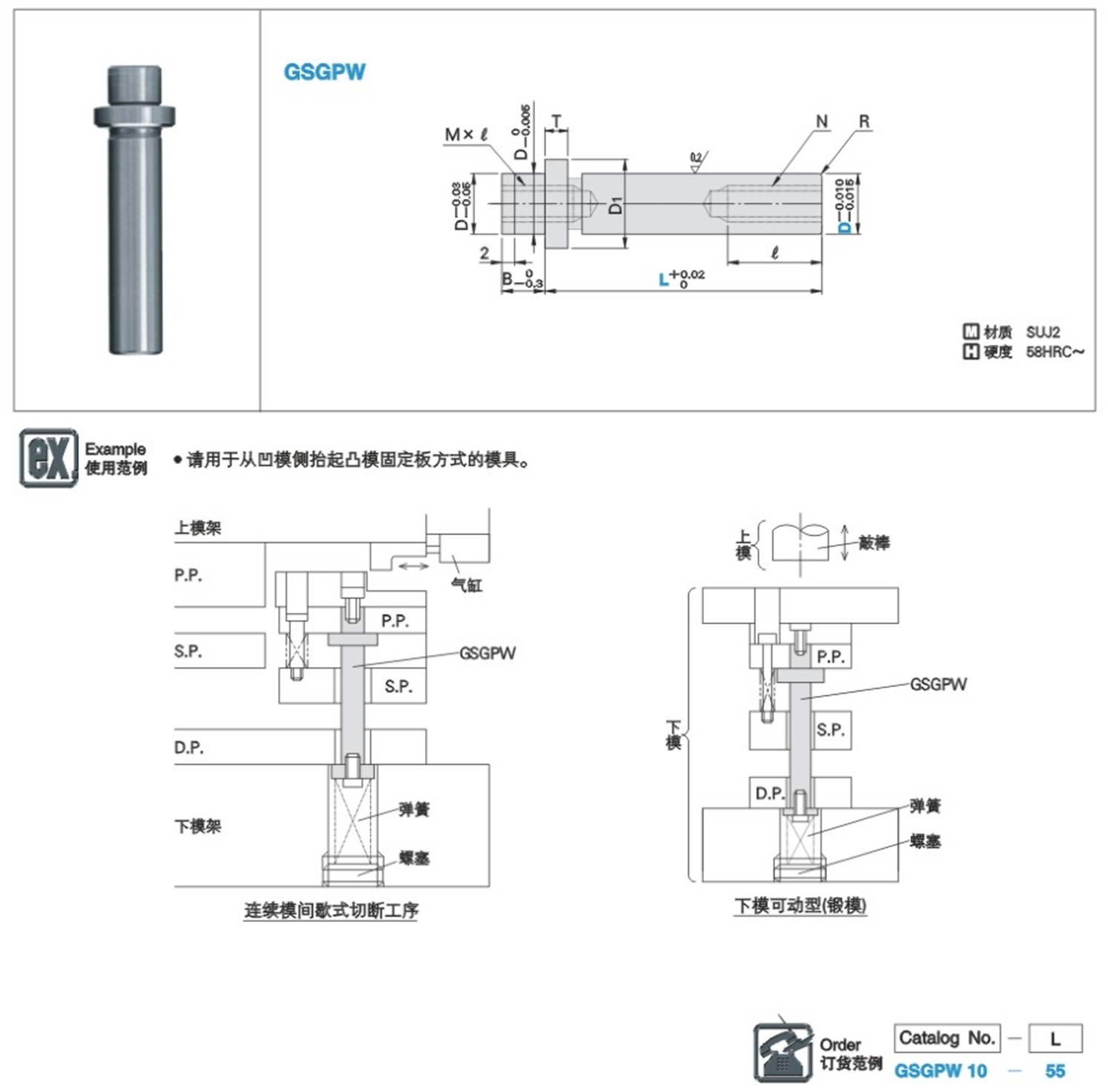 Guide Pin loading and unloading double screws 3