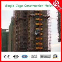 Elevador de construção de gaiola dupla Sc100 / 100