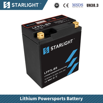 Batterie de moto au lithium LFP7L-BS / batterie de sports motorisés
