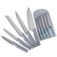 Juego de 5 cuchillos de cocina con mango de plástico