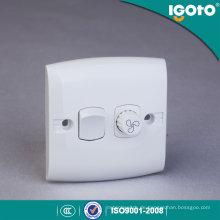 Igoto E135-F British Standard 1-fach Lüftergeschwindigkeit Controller Wandschalter / Wasserdichte Wandschalter / Switch