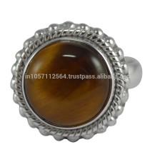 Belle pierre ornée d'oeil de tigre avec bijoux en or 925 en argent sterling