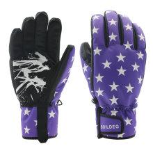 Heißer Stempel Outdoor Sports Wasserdichte Warmhalte Ski Handschuhe