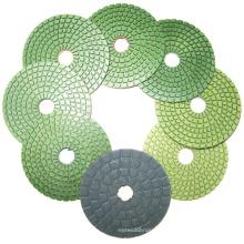Resin pad abrasive sanding tool flexible wet diamond marble polishing disc on Angle Grinder