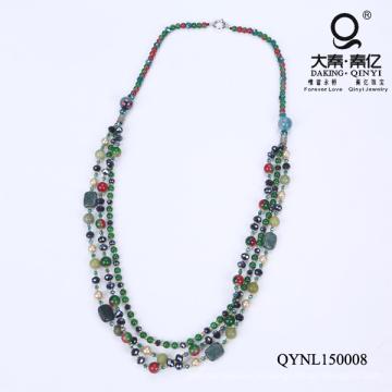 Collier de perles de verre vert Mother′s journée cadeaux